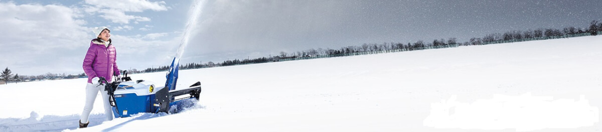 ヤマハの青い除雪機